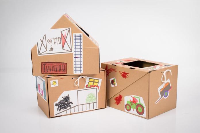 Kartona mantu kastes bērniem