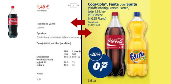 Coca cola limonādes
